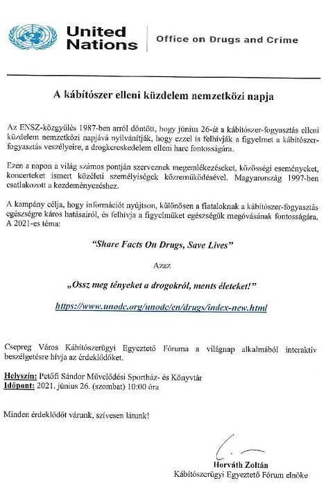Kábítószer-fogyasztás elleni küzdelem nemzetközi világnapja