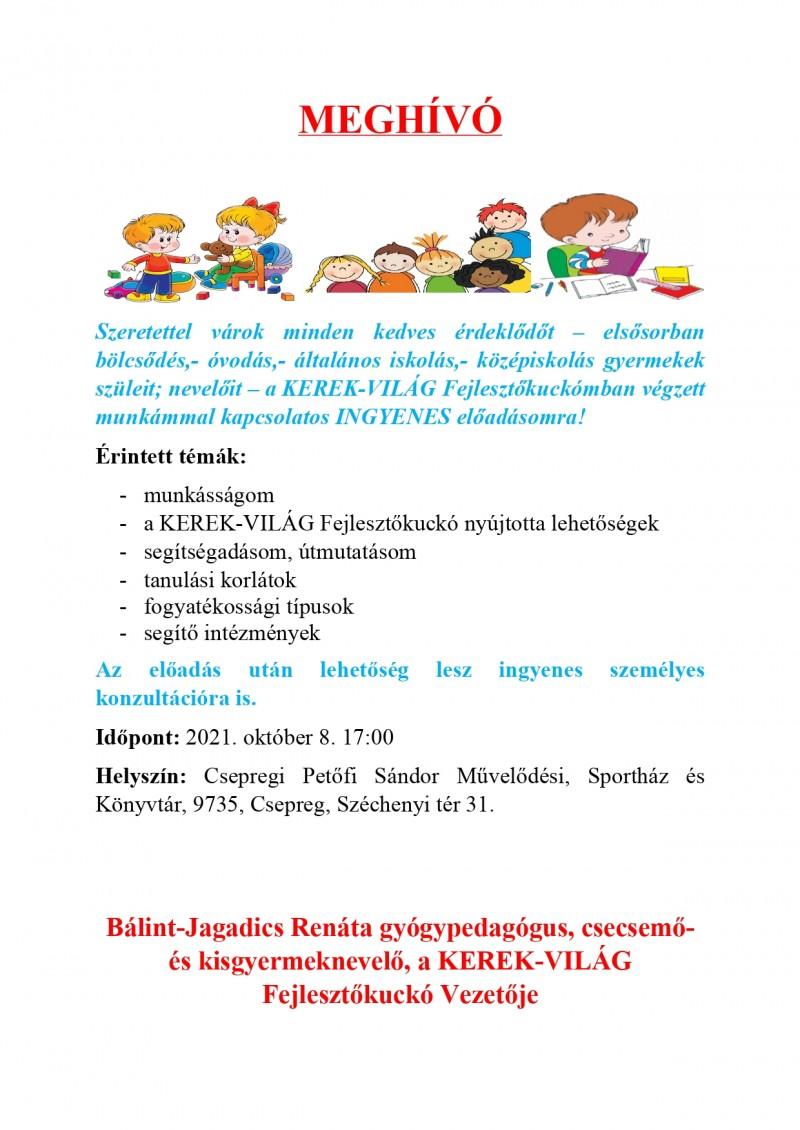Bálint-Jagadics Renáta KEREK-VILÁG Fejlesztőkuckó