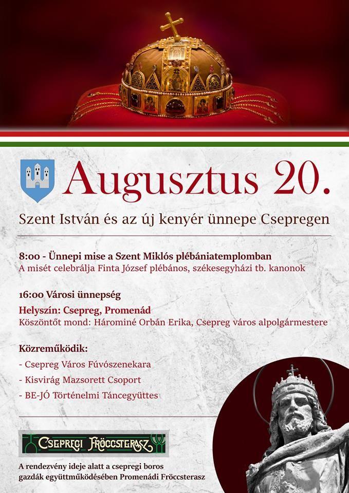 Augusztus 20. - Meghívó városi ünnepségre
