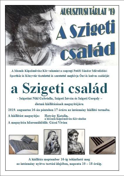 A Szigeti család - életműkiállítás