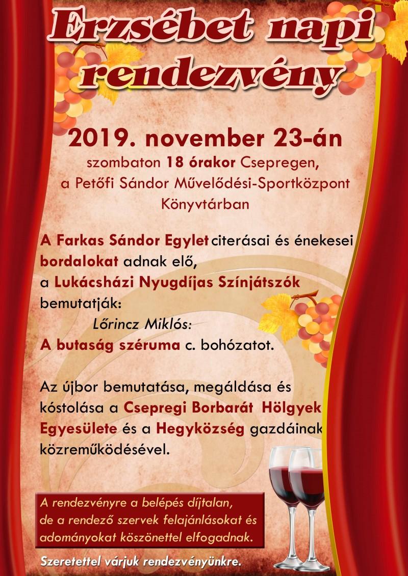 Erzsébet-napi műsor és Újbor bemutató 2019