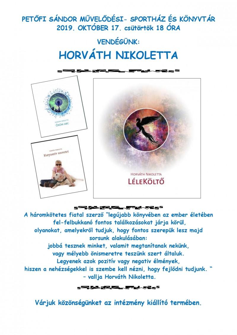 Találkozó Horváth Nikolettával