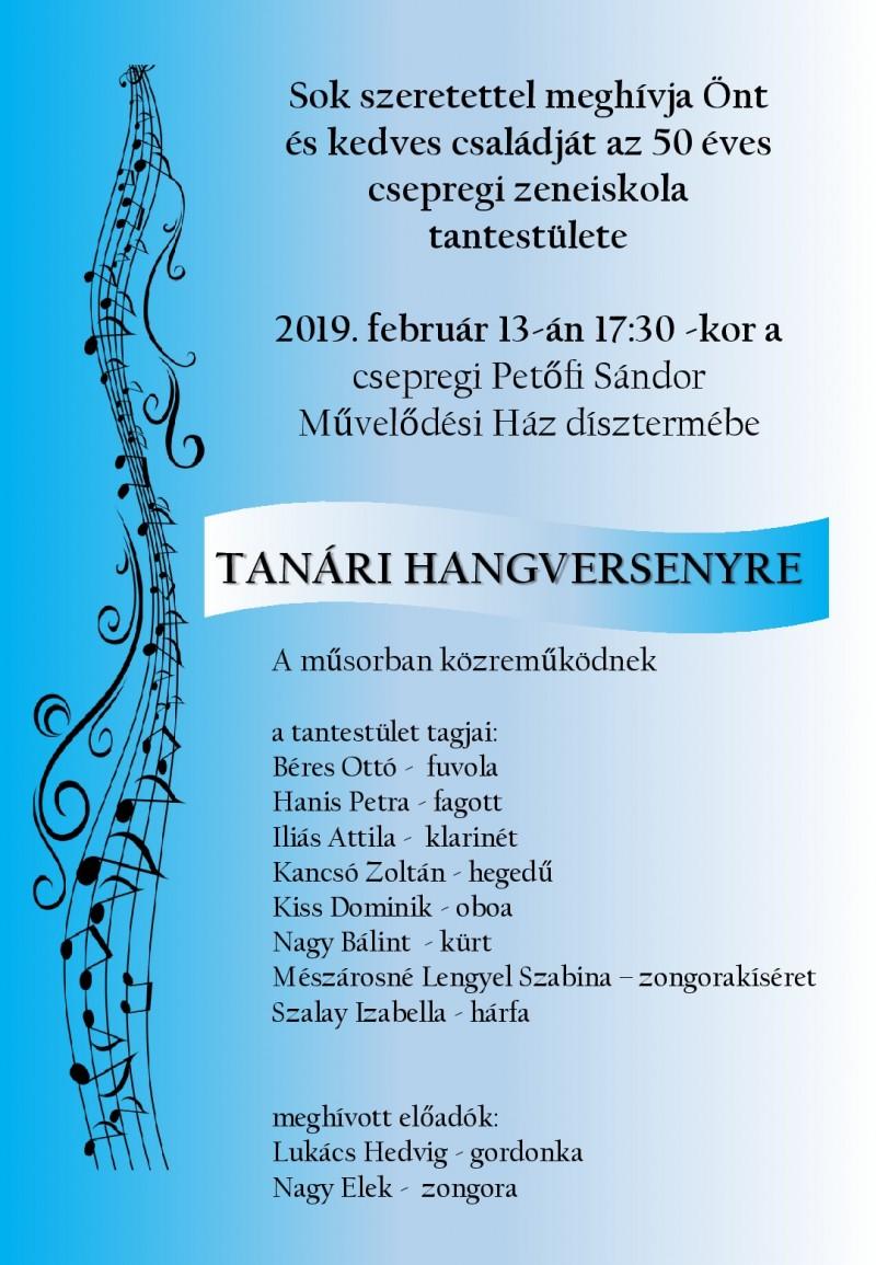 TANÁRI HANGVERSENY